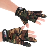 Outdoor Anti-slip Breathable Wear Resistant 3 Low-Cut Fingers Fishing Gloves