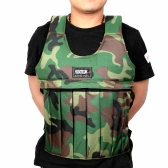 Camouflage Adjustable Weighted Vest for Workout Training