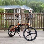 TOP-023 7 Speeds Suspension Frame 20in 5 Spokes Mini Folding Bike Bicycle Mechanical Disc Brake