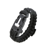 Paracord Bracelet Travel Outdoor Emergency Quick Release Survival Bracelet with Flint Stone Whistle Buckle Mini Compass