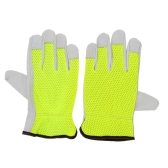 Breathable Working Protection Leather Safety Gloves (2PCS)
