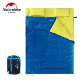 Naturehike Outdoor Camping 2 People Sleeping Bag & Pillows & Inflator & Carrying Bag