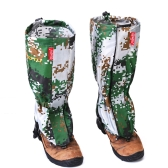 Outdoor Camouflage Water-resistant Gaiters Leg Protection Guard Skiing Hiking Climbing