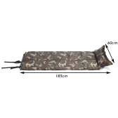 185 * 60 * 2.5cm Camouflage Automatic Inflatable Self-Inflating Dampproof Sleeping Pad Tent Air Mat Mattress with Pillow for Outdoor Camping