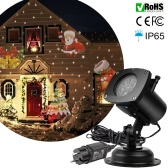 Tomshine Christmas Projector Lamp Rotating LED Projection Light 12 Patterns Pumpkin/Ghost/Heart/Snowflake 12 Replaceable Lens for Birthday Wedding Celebration Decoration