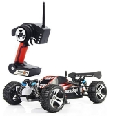 Wltoys A959 1/18 1:18 Scale 2.4G 4WD RTR Off-Road Buggy RC Car - Red