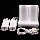 Wii Slip-preventing double Chargers with 2* 1800mAh batteries pack