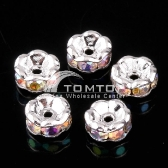 6MM COLORFUL CRYSTAL SPACER BEADS FINDINGS 10pcs jlm76