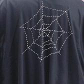 Black Full Cape with Skull for Halloween