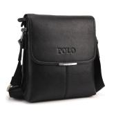 Vintage Men Shoulder Bag Soft PU Leather Flap Top Casual Business Briefcase Messenger Bag Black/Coffee/Brown