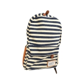 New Fashion Women Backpack Canvas Stripe Print Casual Schoolbag Shoulders Bag Sporting Backpack