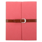 Business PU Leather Flip Smart Cover Protective Stand Case for iPad 2 3 4 Wake & Sleep Retro Buckle Press-Stud Closure Watermelon Red