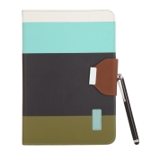 Magnetic Flip Wallet Smart Cover Stand Case for iPad mini PU Leather Hybrid Color Wake/Sleep Gift Stylus Pen Black