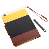 Magnetic Flip Wallet Smart Cover Stand Case for iPad mini PU Leather Hybrid Color Wake/Sleep Gift Stylus Pen