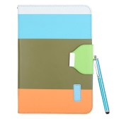 Magnetic Flip Wallet Smart Cover Stand Case for iPad mini PU Leather Hybrid Color Wake/Sleep Gift Stylus Pen Army Green