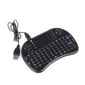 2.4G Mini Wireless QWERTY Keyboard Mouse Touchpad for PC Notebook Android TV Box HTPC Black