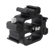 Universal All-metal Triple Head Hot Shoe Mount Adapter for Camera Flash Speedlite with Umbrella Holder