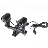 Double Twins E27 Swivel Socket Flash Lamp Bulb Light Stand Mount Umbrella Bracket US Plug