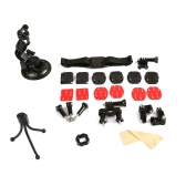 Dazzne KT-102 Bicycle Handlebar/Helmet Mount Mini Tripod 3M Adhesive Stickers Set Kit for GoPro Hero 4 3+ 3 2 1