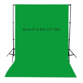 3 * 3.6m / 10 * 12ft Photography Screen Backdrop Muslin Cotton Video Photo Lighting Studio Background Green