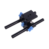 Rail System 15mm Rod Rig Grundplatte Mount for DSLR Follow Focus Rig 5D2 5D3