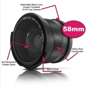 58 mm 0.35X Wide Fisheye Lens with Bag for Canon Nikon Sony Pentax 58mm DSLR Camera