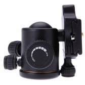 QZSD Q02 Aluminum Camera Tripod Ball Head Ballhead with Quick Release Plate for DSLR Camera Tripod