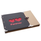 Photo Album Scrapbook 31 Sheets Handmade Photo Frame Book Hardboard Forever Love DIY with 3 Ring