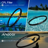 Andoer 72mm Filter Set UV + CPL + Star 8-Point Filter Kit with Case for Canon Nikon Sony DSLR Camera Lens