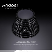 Andoer 58mm ND Fader Neutral Density Adjustable ND2 to ND400 Variable Filter for Canon Nikon DSLR Camera