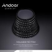 Andoer 58mm ND Fader Neutral Density Adjustable ND2 to ND400 Variable Filter for Canon Nikon DSLR Camera
