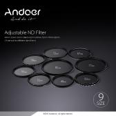 Andoer 62mm ND Fader Neutral Density Adjustable ND2 to ND400 Variable Filter for Canon Nikon DSLR Camera