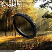 Andoer 72mm ND Fader Neutral Density Adjustable ND2 to ND400 Variable Filter for Canon Nikon DSLR Camera