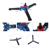 "Hydraulic Universal Tripod Three-legged Support Stand Bracket Mount with Hex Nut Driver Foldable Compact Space-saving Portable Adjustable for 1/4"" Monopod"