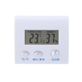 LCD Digital Hygrometer Humidity Thermometer Temperature Meter Clock Home Indoor Use