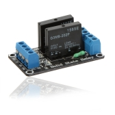 5V 2-Channel Low Level Trigger Solid State Relay SSR Module Board for Arduino ARM DSP PIC with Resistive Fuse