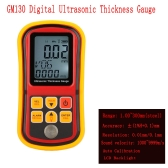GM130 Digital Ultrasonic Thickness Gauge Tester Depth Gauge + Sound Velocity Meter with LCD Backlight Range 1.00~300mm