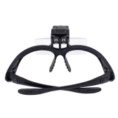 5 Lens 1.0X-3.5X Bracket Headband Magnifier Loupe Glasses with 2 LED Lights Eye Magnification Goggles Magnifying Tool