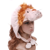 Cartoon Lion Super Soft Short Fuzzy Hat Cap