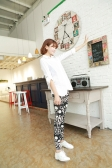 New Colorful Women Lady Leggings Flower Sunflower Peony Geometric Print Musical Symbols Stretchy Tights Pants