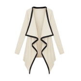 New Fashion Women Asymmetric Outerwear Contrast Coat Long Sleeve Cape Cardigan Tops
