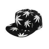 New Fashion Men Women Baseball Cap Leaves Print Luminous Glow Hip-Hop Cap Snapback Hat