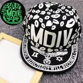 New Fashion Men Women Baseball Cap Lips Letter Print  Luminous Glow Hip-Hop Cap Snapback Hat