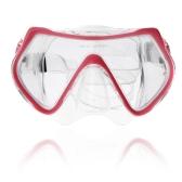 スキューバ ダイビング マスク ゴーグル水泳ダイビング シュノーケ リング機器 4 mm の強化ガラス ピンク