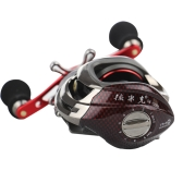 12BB 6.3:1 Right Hand Bait Casting Fishing Reel 10Ball Bearings + One-way Clutch High Speed Red