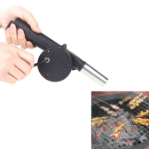 BBQ Fan Air Blower Hand Crank Powered for Barbecue Fire Picnic Camping Outdoor