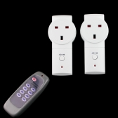 2-pack Wireless Remote Control Power Outlet Plug Socket Switch UK Plug