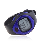 Pulse Heart Rate Monitor Calorie Counter Fitness Sport Exercise Wrist Watch Blue