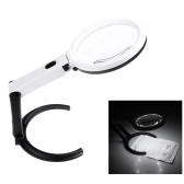 10 LED Light Magnifier Magnifying Glass Lens Table Desk-type Lamp Handheld Foldable 2x 120mm 5x 28mm