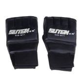 PU Leather Half Mitts Mitten MMA Muay Thai Training Punching Sparring Boxing Gloves Golden